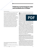 Appointment of Arbitrator S.11 and trends.pdf