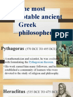 The most notable ancient Greek philosopher