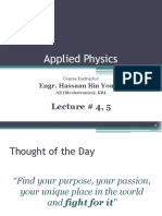 Applied physics Lecture