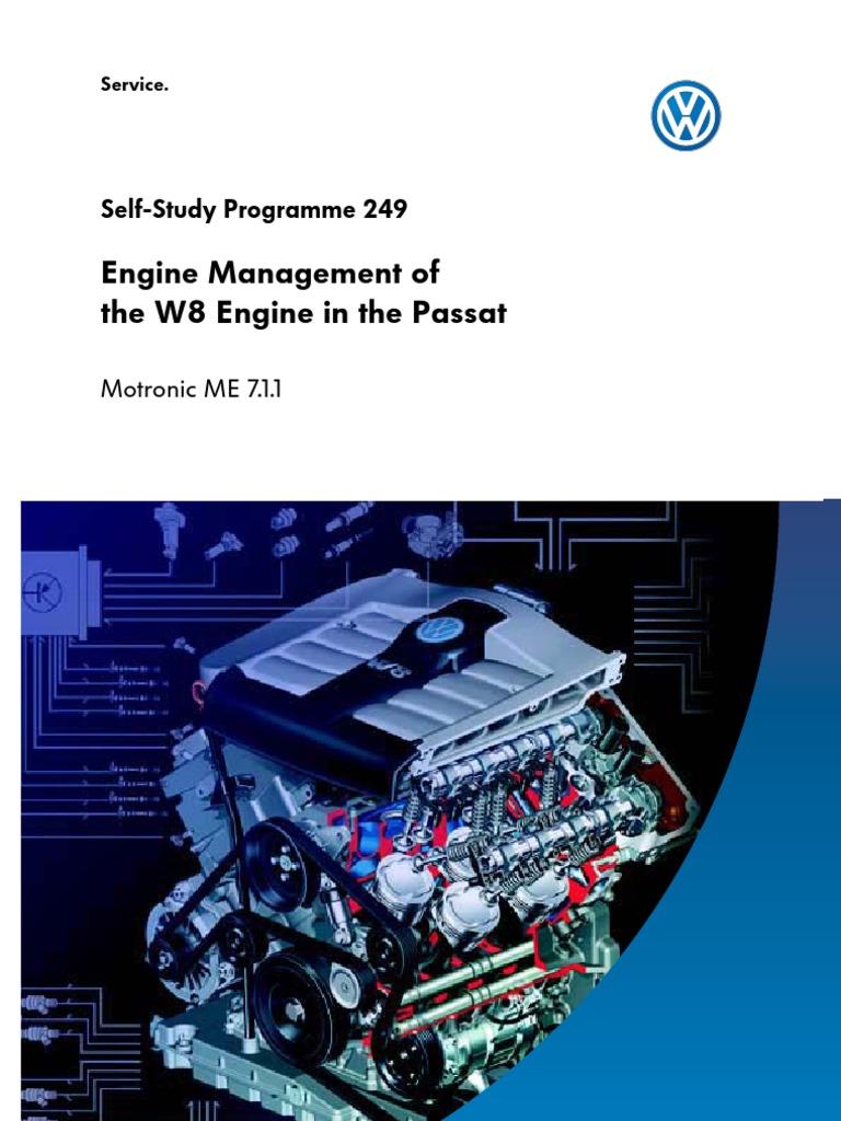 Passat V8 Engine Throttle Fuel Injection W8 Diagram