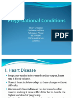 Pregestational Conditions