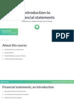 Financial Forecasting 1