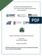 ESQUEMA JUICIO ORDINARIO, JUICIO SUMARIO , JUICIO CIVIL,  FRANCISCO POSADAS