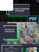 EVOLUTION OF CEMETERY TYPOLOGIES