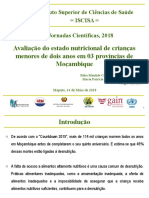 Avaliação Do Estado Nutricional de Crianças Menores de Dois Anos em 03 Províncias de Moçambique_14!05!18