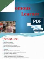 Autonomous learner presentation