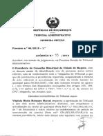 Acórdão n.º 99 2018 - Processo n.º 46-2018- 1ª - Presidente do Conselho Municipal da Cidade de Maputo