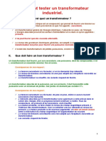 Comment tester un transformateur industrie