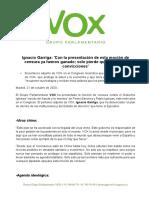 NdP VOX Ignacio Garriga Moción de Censura