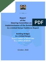 Report of the BBI Steering Committee