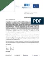 Carta del Greco sobre la iniciativa legislativa para reformar el CGPJ