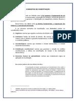 DIREITO CONSTITUCIONAL - Conceitos e Tipos de Constituicao