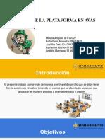 MANEJO DE LA PLATAFORMAS EN AVA
