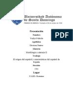Origen del idioma español general