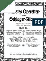 Neuestes Operetten und Schlager Album; Heft 13