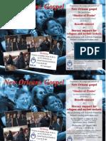 New Orleans gospel choir event poster