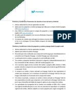 T&C Venta de paquetes prepago desde pagina web Agosto 2020