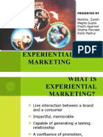 Experiential    Marketing ppt shama