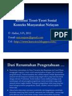 Refleksi Teori-Teori Sosial [Konteks Masyarakat Nelayan]