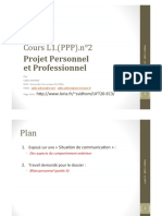 Cours L1.(PPP).n 2 Projet Personnel et Professionnel