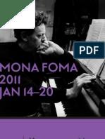 MONA FOMA FULL PROGRAM 2011