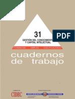 Cuaderno de Trabajo 31 GConocimiento Capital Humano