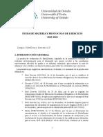 1. Ficha Lengua Castellana y Literatura II EBAU 2019-2020