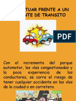 Accidentes de transito Como Actuar