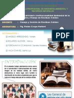GRUPO Nº1 PPT. Normatividad e institucionalidad Ambiental de la Gestión y Manejo de Residuos Solidos (1) (3)