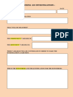 Simple Planning Format Page 1
