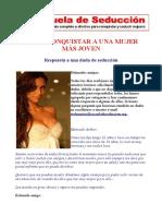 COMO CONQUISTAR A UNA MUJER MAS JOVEN - ESCUELA DE LA SEDUCCION.pdf