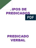 TIPOS DE PREDICADOS - PREDICADO VERBAL Y NO VERBAL
