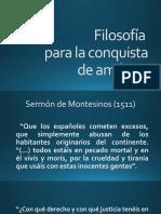 FILOSOFIA DE LA CONQUISTA DE AMERICA
