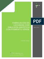201903002_Fabricacion de Lechadas con emulsión sintética de color verde
