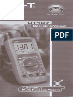 multimetro automotriz UNI-T UT107-operation manual