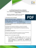 Guia de actividades y Rúbrica de evaluación - Fase 3 - Metodologías de los impactos ambientales      .pdf