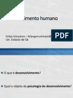 Aula 1 - Desenvolvimento - definição, métodos, aspectos, genética do comportamento