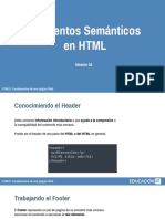 Elementos semánticos en HTML