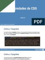 CSS estilo y tipografia