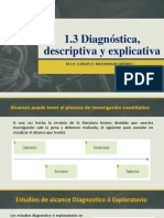 1.3 Investigacion Diagnostica, Descriptiva y Explicativa