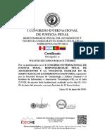136 CONGRESO INTERNACIONAL DE  JUSTICIA PENAL 2020 WALTER ROJAS GUTIÉRREZ