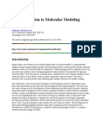 An Introduction to Molecular Modeling