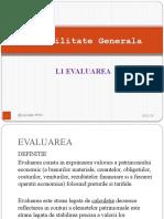 L1 Evaluarea