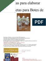 14 PLANTILLAS  Etiqueta BOTES DE AGUA  H