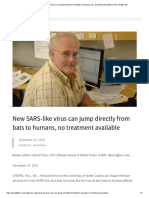 New SARS-like Virus Can Jump Directly From Bats to Humans, No Treatment Available _ UNC Health Talk