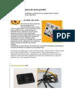 Laboratório ou placa de teste portátil