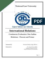 International Law China- India present and future