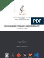 Primeros pasos como desarrollador de software, conociendo un editor de código fuente y herramientas para el versionamiento de código (Git, GitLab, GitHub) (V1)