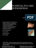 ATENCION INICIAL EN CASO DE QUEMADURAS
