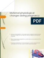 1- Maternal physiological changes during pregnancy